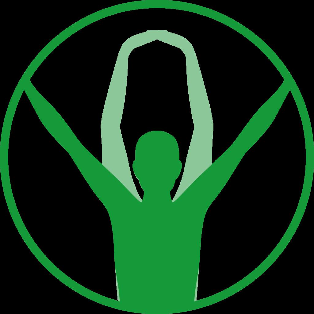 Icon eines sich bewegenden Menschen.