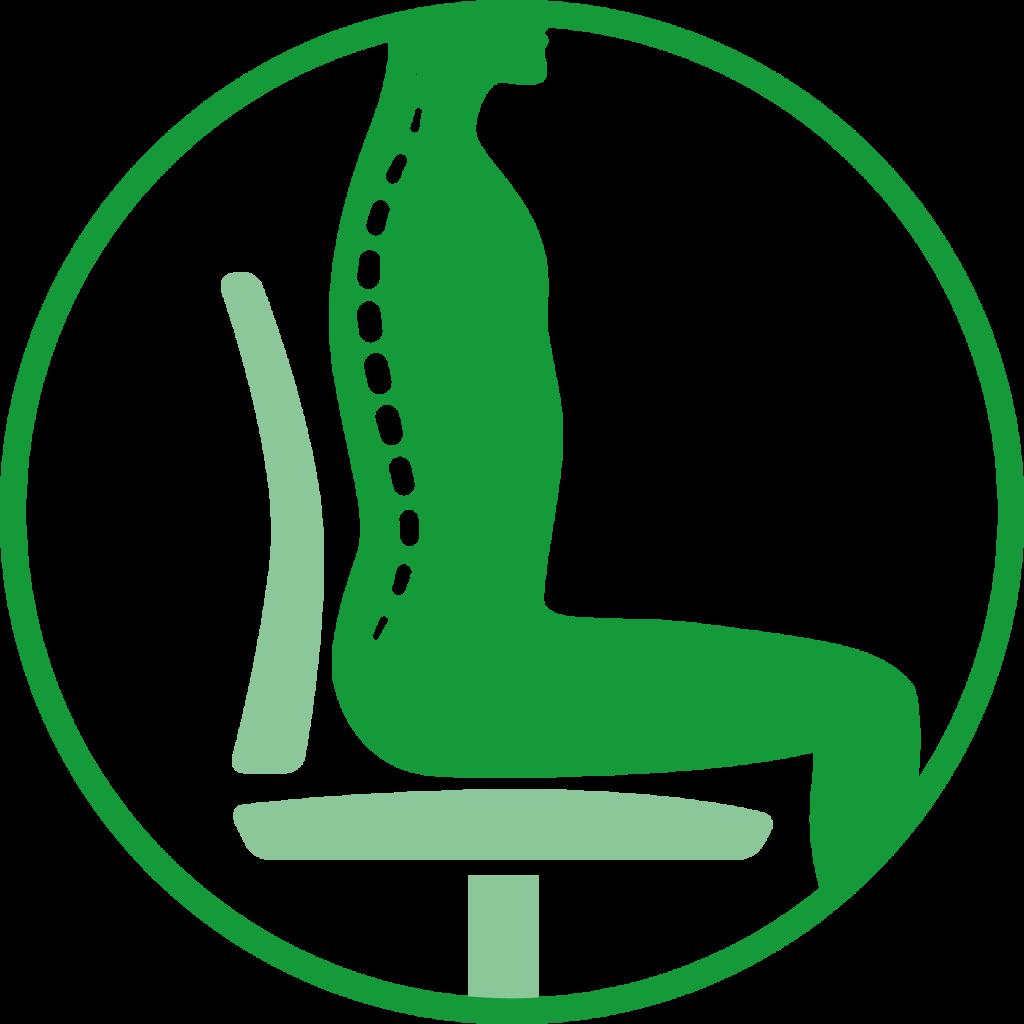 Icon eines gerade sitzenden Menschen.